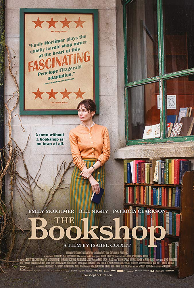 Film Club : The Bookshop – Monday 18th at 7 for 7:30pm