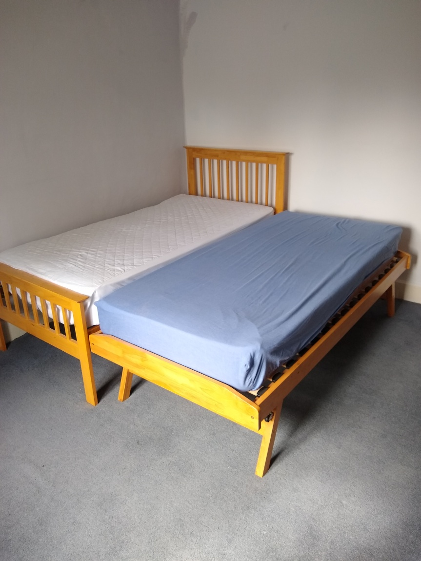 As a double bed