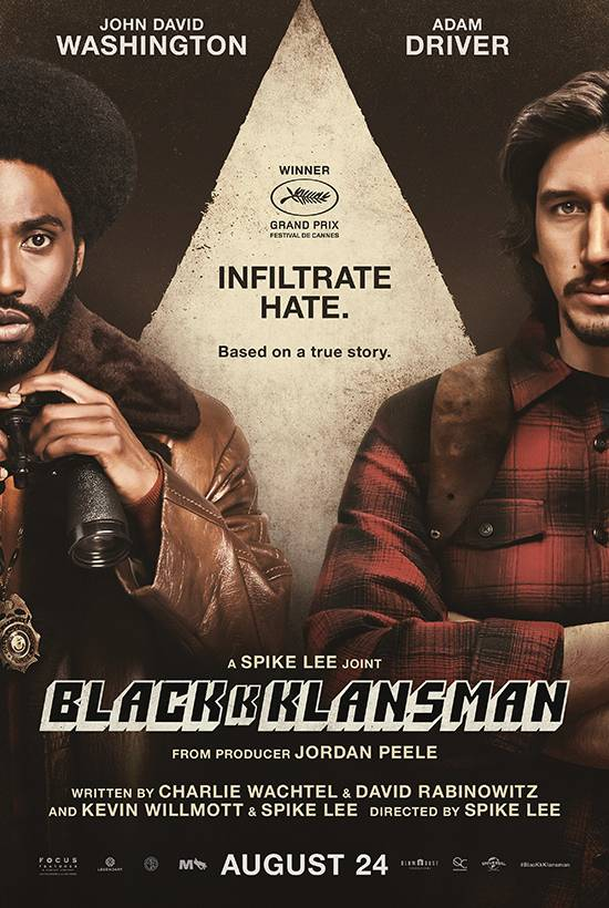 Film Club: Mon 27th at 7pm (for 7:30) : BlackKKlansman
