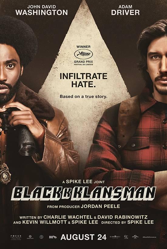 Film Club: Mon 27th at 7pm (for 7:30) :BlackKKlansman