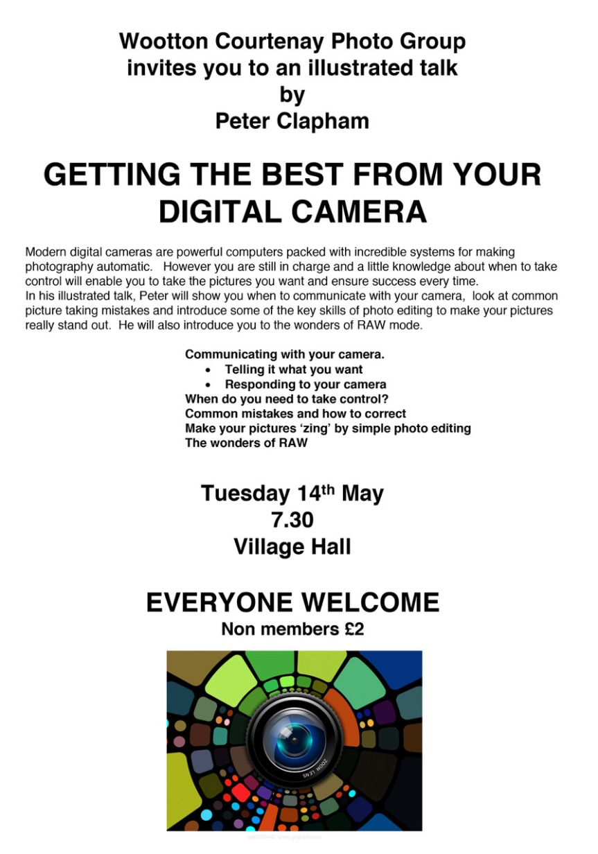 Photo Group Talk – 'Getting The Best From Your DigitalCamera'