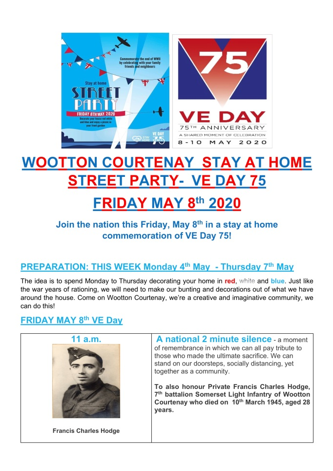 VE Day Stay at Home Party May 2020